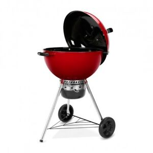 Weber Original Kettle 22-inch Premium Charcoal Grill Red