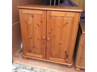 Solid pine cabinet with shelf
