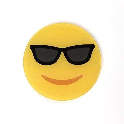 Smiling Face with Sunglasses Emoji Design Acrylic Coaster - Individual - (Smiling Face With Sunglasses)