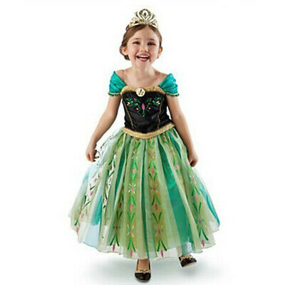 Halloween Frozen (Anna Princess Dress Frozen Costume for Girls Cosplay Halloween Costume)