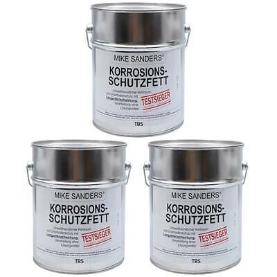 """Mike Sanders Korrosionsschutzfett 2,25 kg (3x750g) """"weiche Mischung"""" Rostschutz"""