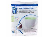 Catit Design Fresh & Clear Drinking Fountain Filters 3 pkts