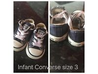 Baby converse x4 pairs from £10