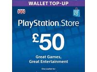 £50 PSN CARD FOR SALE