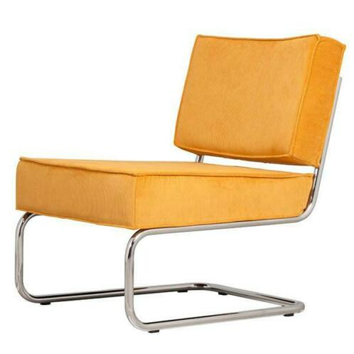 Zuiver Lounge Stoel.Stoel Lounge Chair Ridge Rib Geel Zuiver Fauteuils
