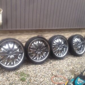 Velocity Luxury Clean 22's W/ Low Profiles