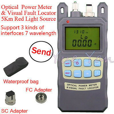 Fiber Optical Power Meter -7010dbm 1mw 5km Cable Tester Visual Fault Locator