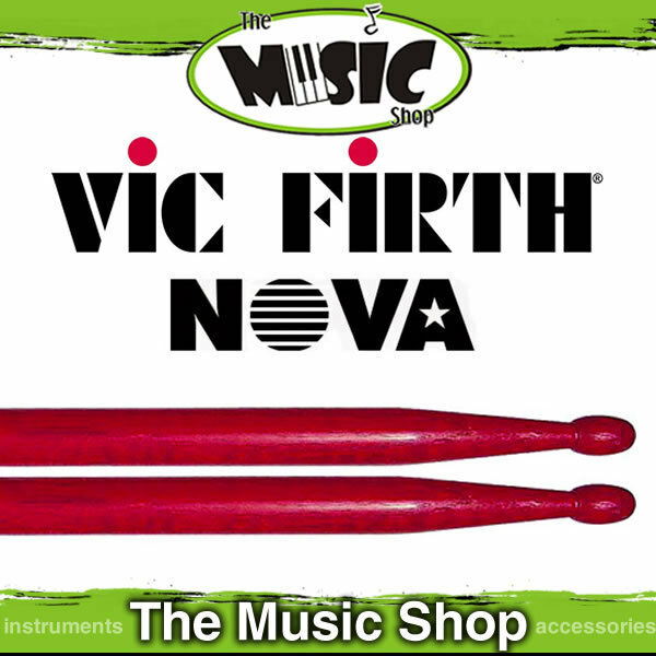 New Set of  Vic Firth Nova 5B Drumsticks with Wood Tip - Red Drum Sticks