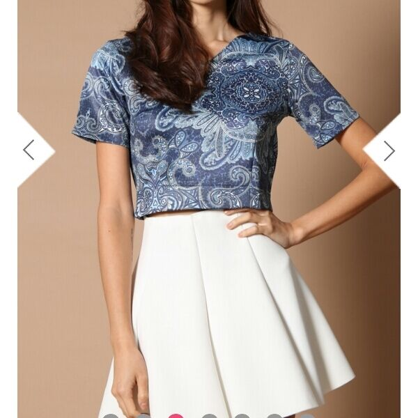 Joy Neoprene Crop Too In Paisley L