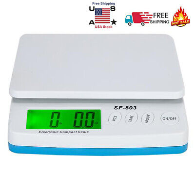 30kg1g Scale Digital Lcd Shipping Mail Packages Weigh White With Adapter Us