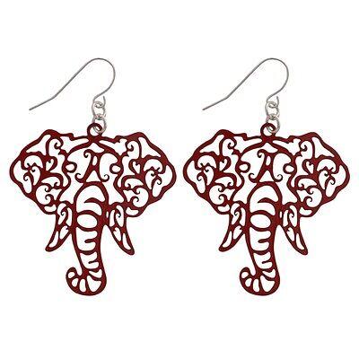 Alabama Crimson Tide Elephant (New Alabama Crimson Tide Crimson Elephant Fish Hook Earrings, Gift for Her Mom )