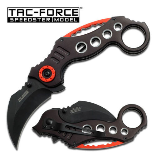 NEW BLACK KARAMBIT Claw SPRING ASSISTED POCKET KNIFE Blade Tactical Open Folding