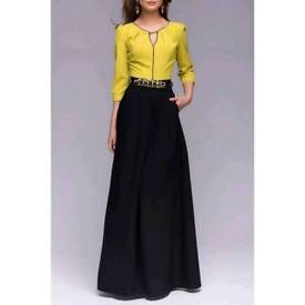 Long black and yellow dress on Get Grace Gift