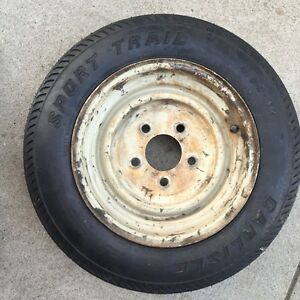 20 inch trailer tire and rim. 4.8 x 12