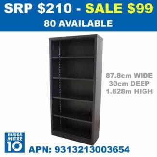 SHELF UNIT 5 SHELF ENCLOSED - BRAND NEW 878 (W)x 330 (D)x 1828 (H
