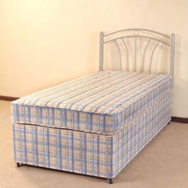 Single Divan bed with mattress and storage - Delivery available