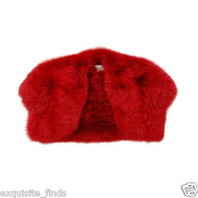 NEW YVES SAINT LAURENT RED FOX FUR BOLERO JACKET 42 - 10