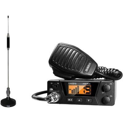 Uniden PRO505XL 40-Channel Bearcat Compact CB Radio and Tram 703-HC Center Load