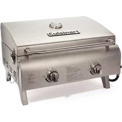 Chefs Style Tabletop Gas Grill CUISINART CGG-306 Chef Portable Propane Gas Grill