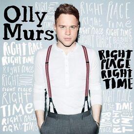 OLLY MURS - BLOCK B3 ROW N - O2 ARENA - FRI 31/03 - £80!