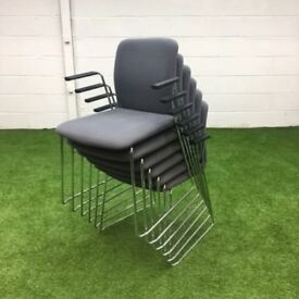 Boss Design Arran Skid Frame Meeting Chair Light Grey 6 available