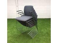 Boss Design Arran Skid Frame Meeting Chair Light Grey 6 available