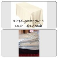 Ivory Tablecloths (Perfect for your wedding reception!!)