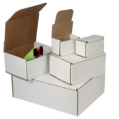 200 - 5 X 5 X 5 White Corrugated Shipping Mailer Packing Box Boxes