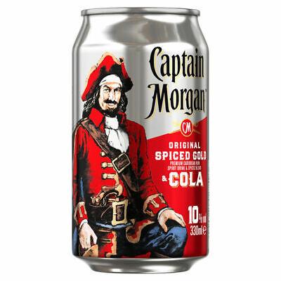 12 Dosen Captain Morgan & Cola a 0,33 L 10% Vol. inc. EINWEG Pfand Rum und Cola