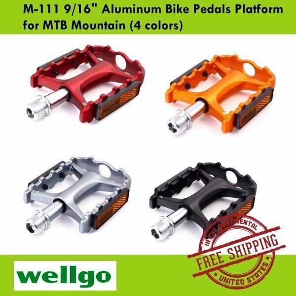 "Wellgo WR-1 MTB Mountain Grey Road Bike 9//16/"" Aluminum Pedals Platform"
