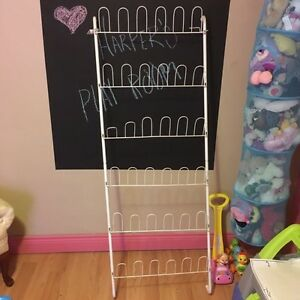 Shoe rack  (18 pairs, fits on back of door)