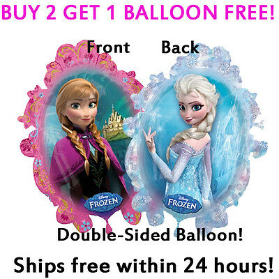 HUGE 2-Sided Frozen Elsa Anna Mylar Jumbo Balloon Birthday Party Supplies - Jumbo Party