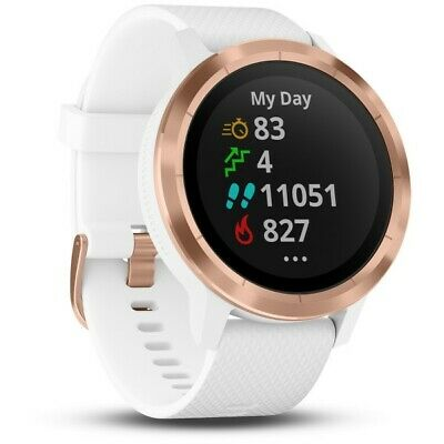 Garmin vivoactive 3 White Rose Gold Smartwatch With Contactless Pay 010-01769-09