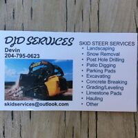 Bobcat landscaping services and interlocking brick read card
