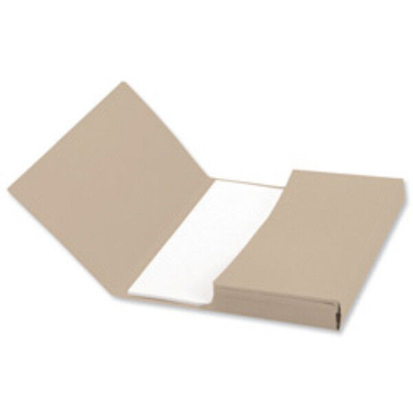 12x Foolscap Wallets BROWN Office Filing Storage Folders Files For A4 Documents