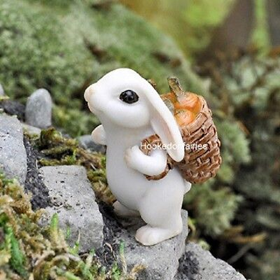 Miniature Bunny Rabbit w Carrot GO 17449  Georgetown Fairy Garden Dollhouse
