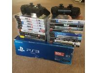 PlayStation 3. 500 gb with 18 games