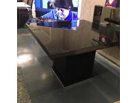 Next black high gloss Square dining table