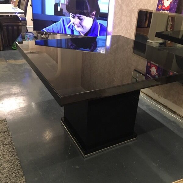 Next black high gloss Square dining table NEW PRICE in