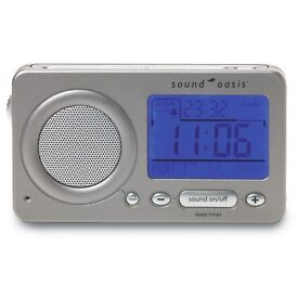 Sound oasis Travel sound relaxer and alarm clock