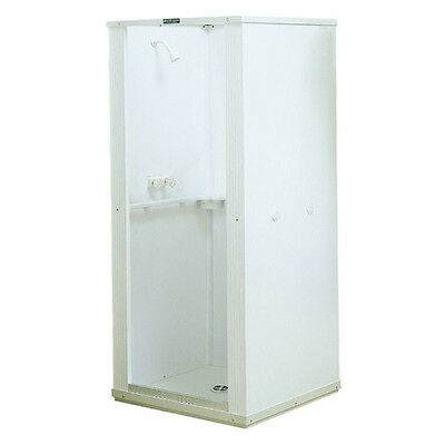 Shower Stall Kits Walk In One Piece Corner Bathroom Enclosure Walls Panels Drain
