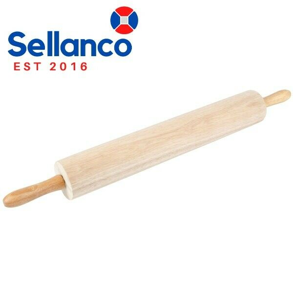 """18"""" Professional Wooden Rolling Pin Kitchen Bakery Baking Commercial Wood Tool"""