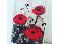 Hand painted poppies by local artist £50