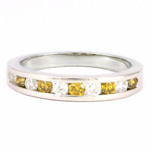 14k White Gold Yellow Diamond Anniversary Band (0.50 tdw) #3140
