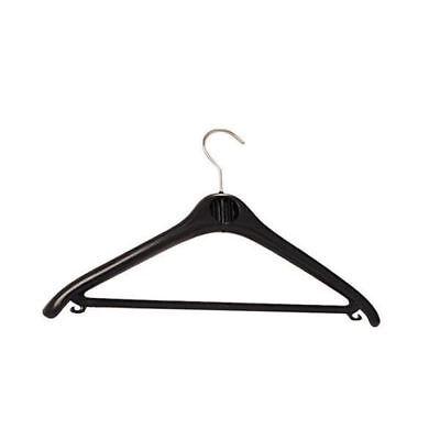 Alba Black Plastic Coat Hanger (Pack of 20) PMBASICPL [ALB00877] Alba Plastic Coat Hanger