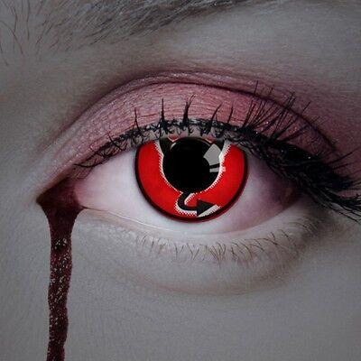 aricona Farbige Kontaktlinsen Teufel deckende Horror Linsen Halloween Kostüm FUN