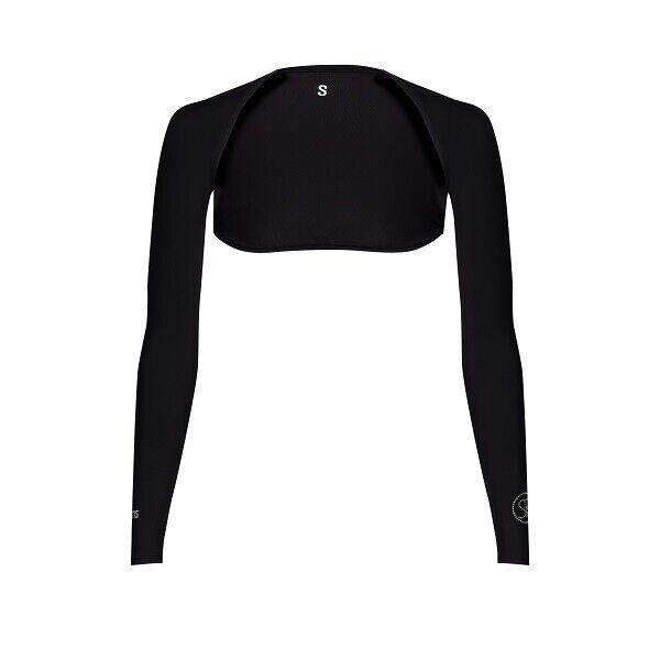 New SParms Golf- Unisex Sun Shoulder Wrap Sleeves (Crystal Logo) Black Size XL