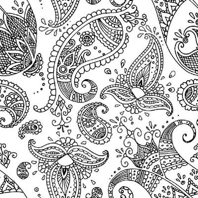 4 x Paper Napkins - Paisley White / Black - Ideal for decoupage / Napkin Art