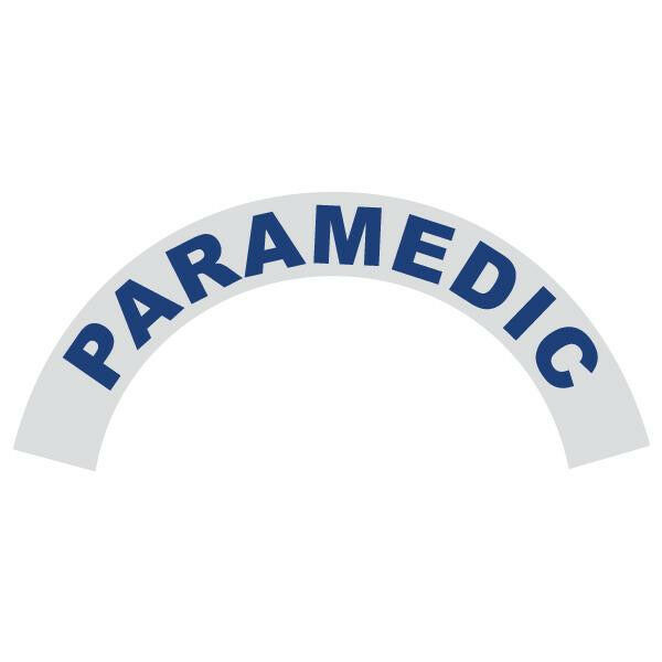 Paramedic Blue Helmet Crescent Reflective Decal Sticker