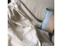 2 pairs John Lewis pencil pleat lined curtains